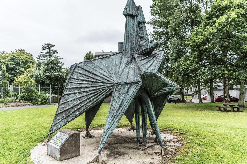 Twin Spires Sculpture NUIG - Visit Galway
