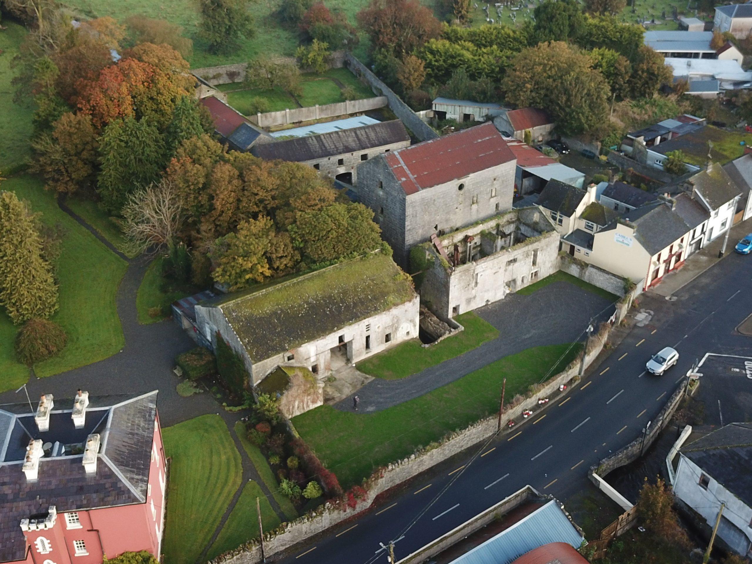 Ahascragh Mills Aerial Pic - Visit Galway