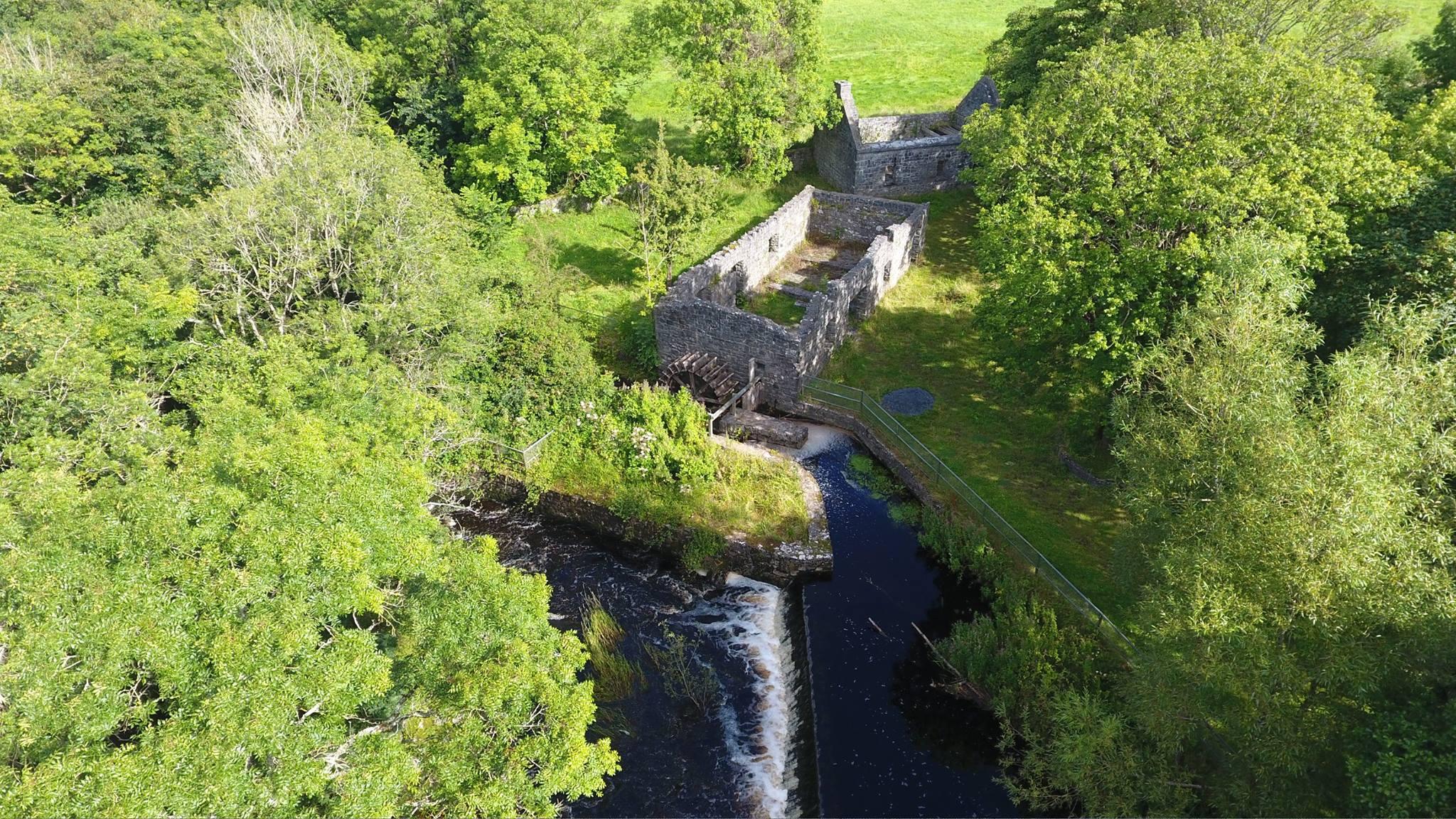 Ballylee Mill Aerial Photo - Visit Galway