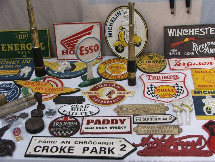 Claregalway Sunday Market Old Signs - Visit Galway