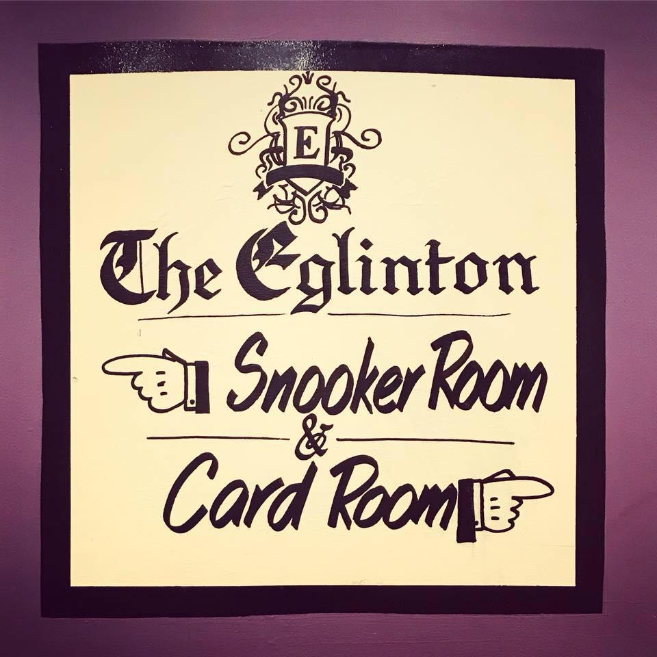 Eglinton Snooker Sign - Visit Galway
