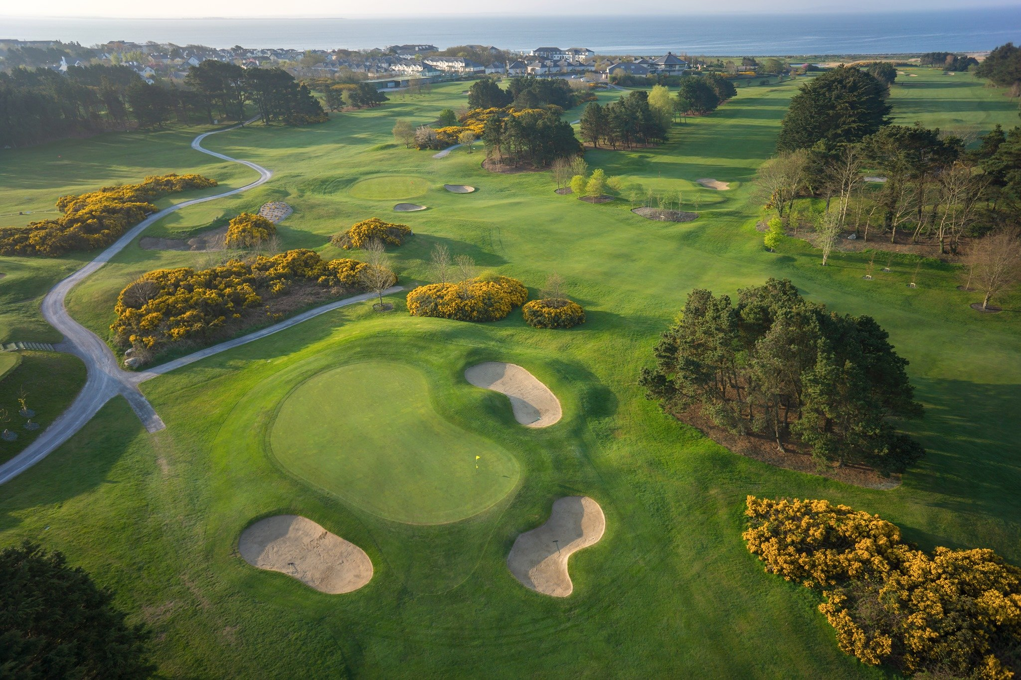 Galway Golf Club Aerial Photo of Hole - Visit Galway