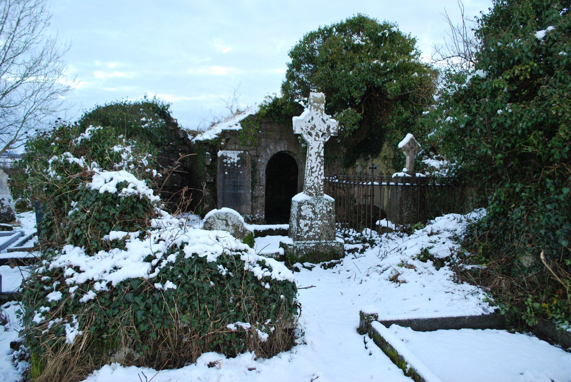 Kelly Mausoleum Under Snow - Visit Galway