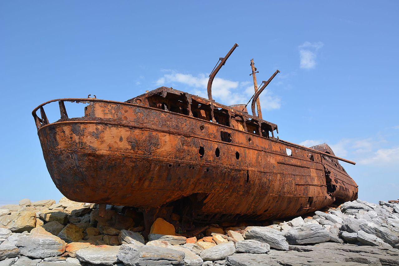 MV Plassy on Inisheer - Visit Galway