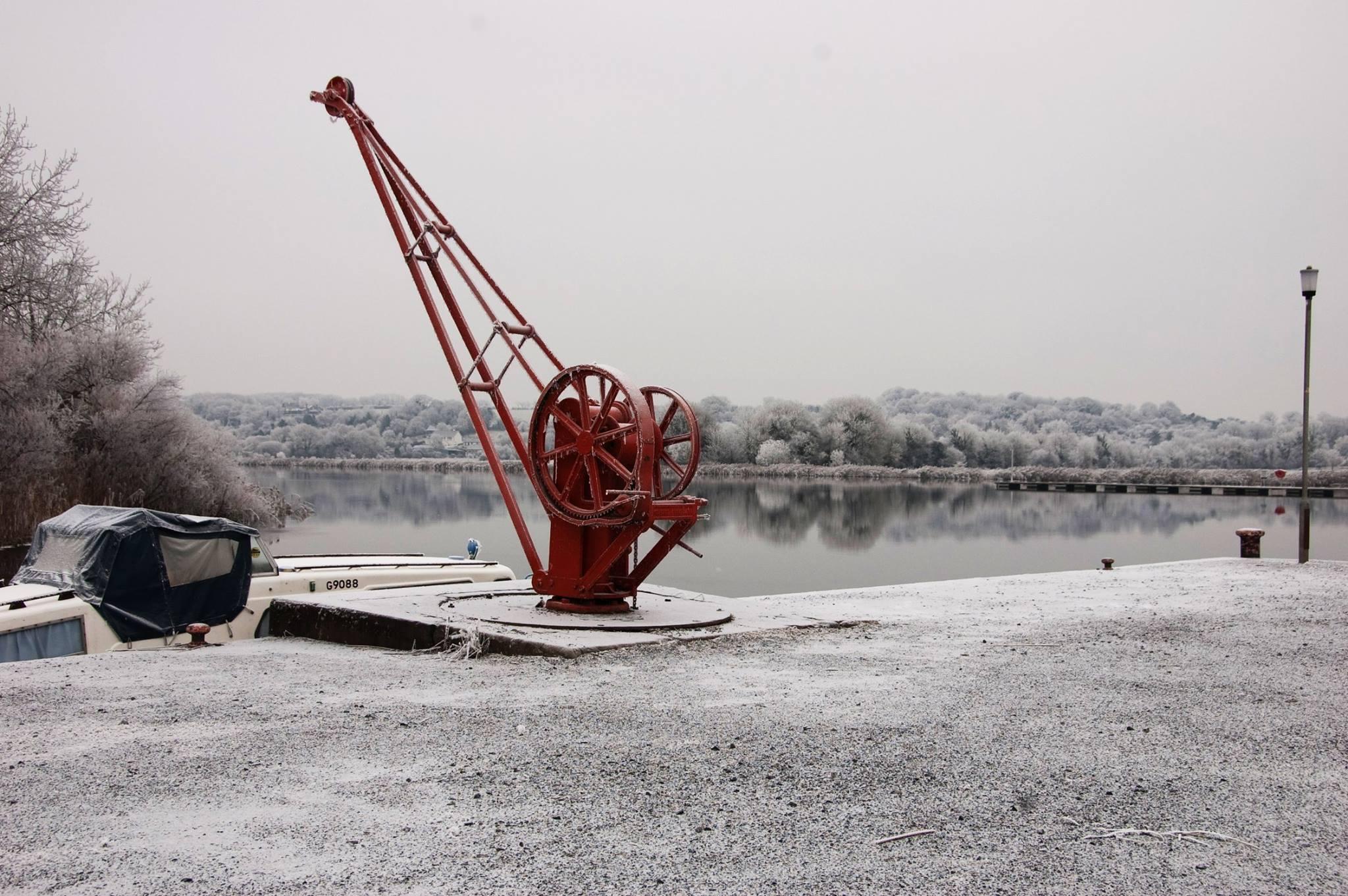 Portumna Water Crane in Winter - Visit Galway